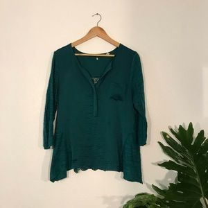 Silky & Lacey green blouse